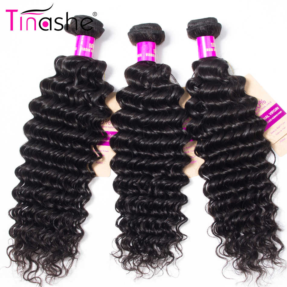 Tinashe Hair Deep Wave Bundles Brazilian Hair Weave Bundles 1/3/4 Bundles Natural Color Remy Hair Bundles Human Hair Extensions