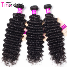 Tissage en lot Deep Wave brésilien naturel Remy – Tinashe, couleur naturelle, Extensions de cheveux, lots de 1/3/4