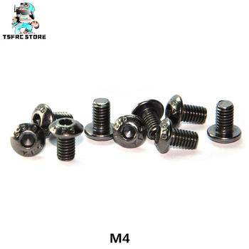 100%Original YFS M4*6*8*10*12*14*16*18 ISO7380 Grade 12.9 Hexagon Socket Head Cap Screw Bolt Black Nickel Plate image