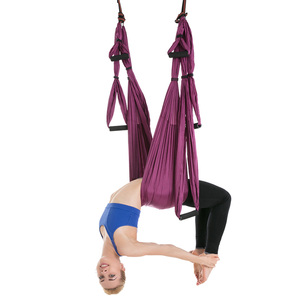 Image 5 - Hot 6 Maniglie Anti Gravità Yoga Amaca Trapezio Palestra di Casa Appeso Altalena Cintura Cinghia di Pilates Aerea Dispositivo di Trazione 2.5*1.5m