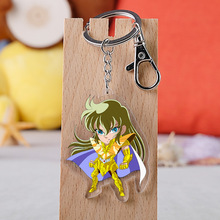 2019 Saint Seiya Sleutelhanger Dubbelzijdig Sleutelhanger Acryl Hanger Anime Accessoires Cartoon Sleutelhanger