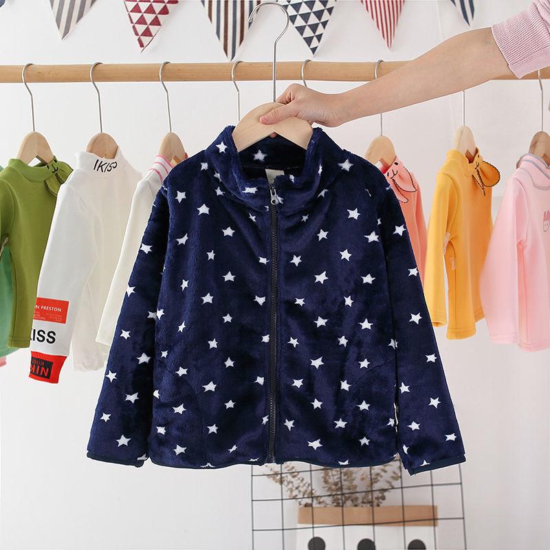 Vidmid New Children Autumn Solid Color Fleece Sports Jacket 3-10 Years Boys Girls Coats Fashion Zipper Tops Kids Clothes P316 4