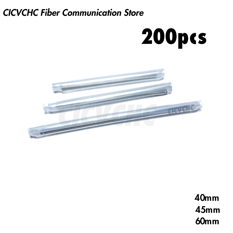 200pcs Fiber Optic Fusion Protection Splice Sleeves 40mm, 45mm, 60mm For 900un Cable/ Heat Shrink Tube/Fiber Optic Hot Melt Tube