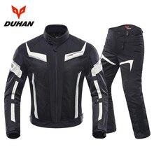 DUHAN Motorcycle Jacket Men Pants Moto Summer Protective Motorcycle Suit Mesh Moto Racing Jackets Clothing Motorbiker Blouson