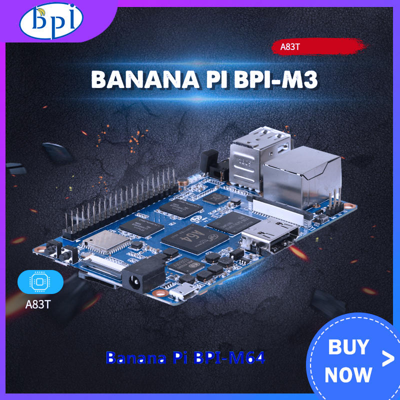 Banana Pi M3 + Acrylic Case/Metal Case + 5V2A DC Power For Banana Pi M3 Single Board Computer With 8G EMMC WiFi BT Module