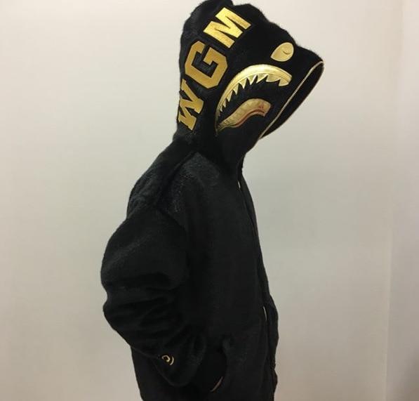 2019 черная Золотая толстовка с вышитой акулой, шерстяная толстовка с капюшоном Harajuku, топ, длинное пальто, Толстовка для косплея в стиле хип хоп - 3