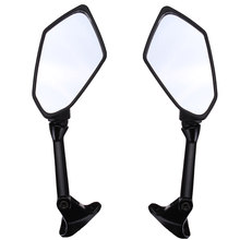 Hot New 1 Pair Black Motorcycle Rearview Mirrors For KAWASAKI ZX6R ZX-6R ER-6F 2009 2010 2011(China)
