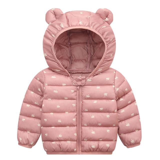 Nieuwe Winter Pasgeboren Baby Katoen Meisjes Jacks Casual Baby Warm Hooded Kids Jongen Jassen Bovenkleding Kleding