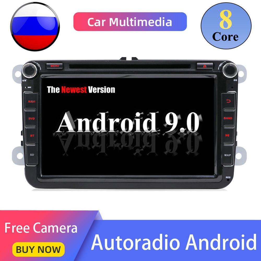 8 core Android 9.0 2 din cassette tape recorder multimedia playerFor VW <font><b>passat</b></font> <font><b>b6</b></font> golf 4 5 6 polo tiguan Seat Altea Toledo BORA image