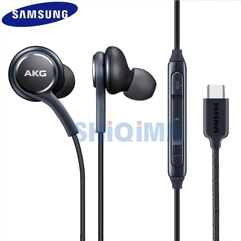 For S9 Earphone Samsung Original Earphones Type-C In Ear Hearphone Headset Mic Volume S8 S10 Note 8 9 10 Plus A70 A50 For Huawei