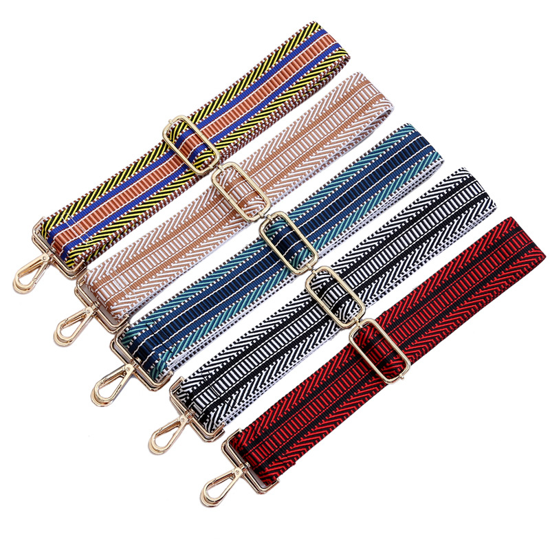 Women's Bag Strap Fashion Adjustable Shoulder Strap Accessories Parts Messenger O Bag Hanger Handbag Colorful Nylon Straps 130cm