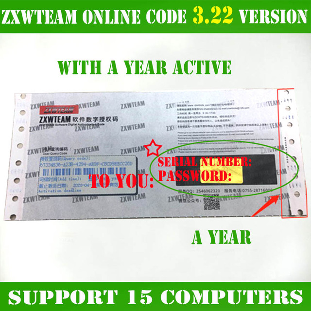 Original ZXWTEAM ZXWSOFT zxw tool 3.22 software Mobile phone repair drawing 1 year (No shipping, time waiting, online delivery)