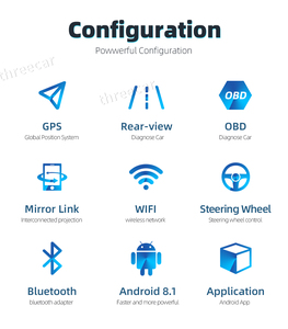 Image 2 - Android 8.1 Car Radio Stereo GPS Navigation Bluetooth wifi Universal 7 2din 2.5D IPS Car Radio Stereo Quad Core Multimedia