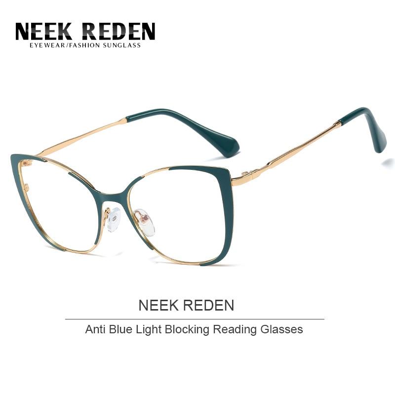 Кошачий глаз анти-синий светильник, блокирующие очки для чтения, женские очки, оправа из смолы, асферические стекла, линзы + 0,5 + 1,75 + 2,0 + 2,75 + 4,0