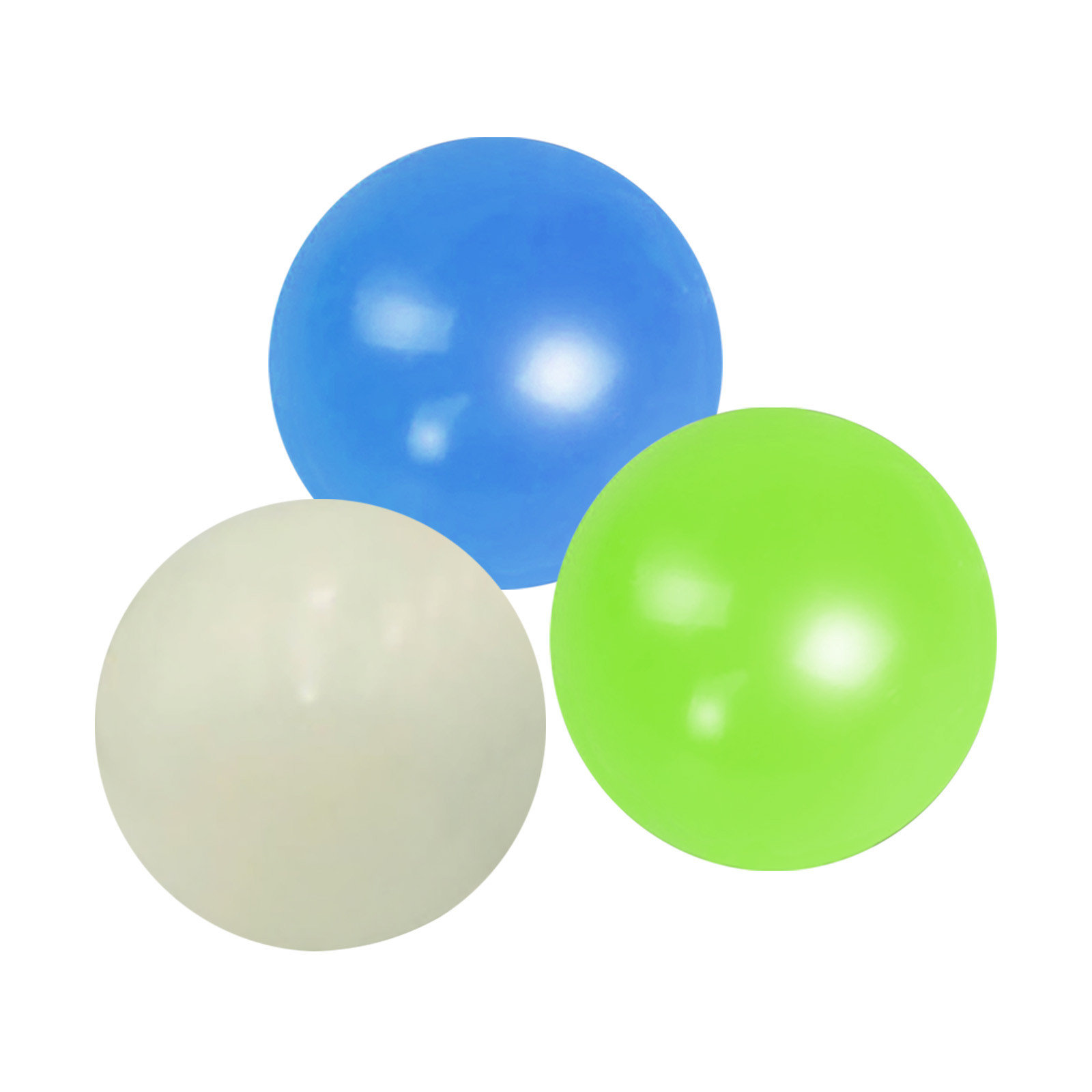 Globbles Stick Wall Ball Fluorescent Toys For Kids Sticky Wall Ball Sticky Target Ball img3