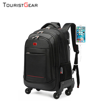 school backpack with Wheel Waterproof Luggage Travel trolley bag business Laptop Backpack Men Carry-on Wheel Rolling Suitcase