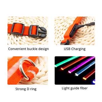 USB Charging Led Dog Collar Anti-Lost/Avoid Car Accident Collar For Dogs Puppies Dog Collars Leads LED Supplies Pet Products 5