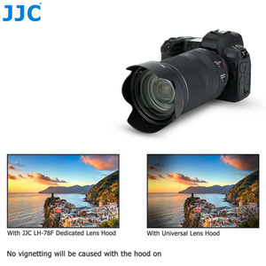 Image 5 - JJC Camera Lens Hood Reversible Flower Shade For Canon RF 24 240mm f/4 6.3 IS USM Lens Replaces CANON EW 78F 72mm Lens Hood