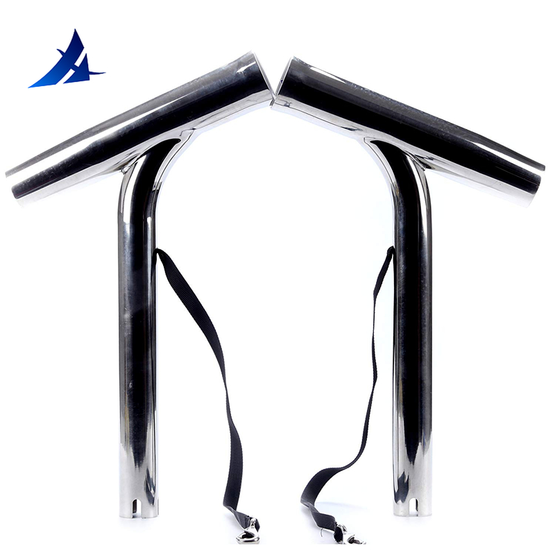 Boat Accessories Marine 2 Pieces Sliler Highly Polished Stainless Steel Outrigger Stylish Rod Holder 14