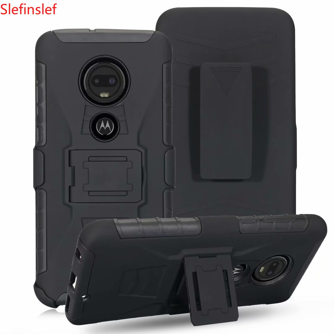 3IN1 Military Heavy Duty Hard 3D Robot Armor Case For Motorola Moto X4 5 E5 G7 Power G6 Plus Z3 Z4 Play Belt Clip Holster Hybrid