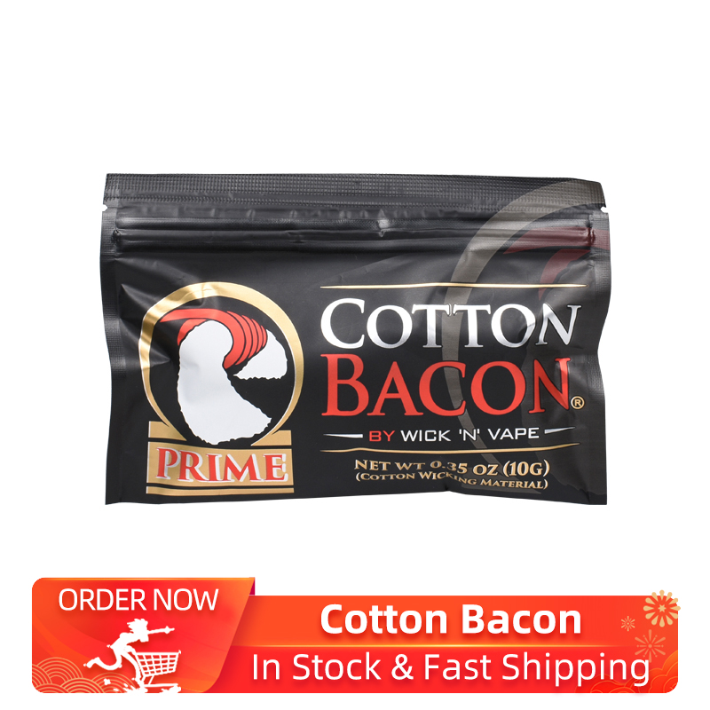 2019 New Organic Cotton Vape Cotton Golden Version Bacon For Electronic Cigarette Rebuildable RDA RBA DIY Atomizer Vapor Cotton