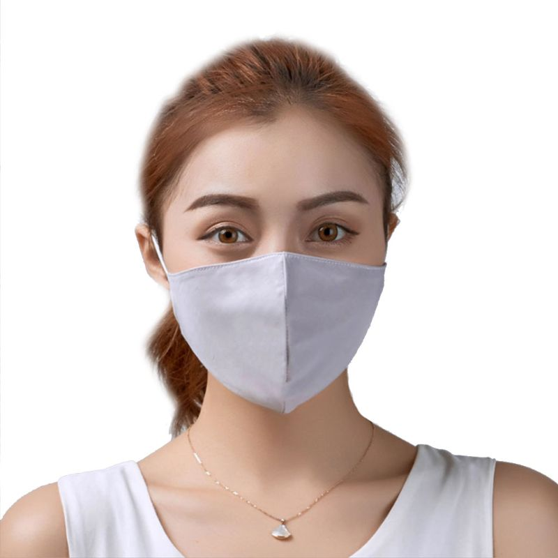 Women Girls Summer Ice Silky Cotton Mouth Mask Sweet Candy Color Sun Protection Dustproof Breathable Reusable Thin Respirator