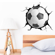 3D Football Wall Stickers Home Decoration Stickers DIY Removable For Kid Room Wall Decoration Sticker Decal Vinyl Car Styling 3pcs set 3d removable room decoration wall stickers