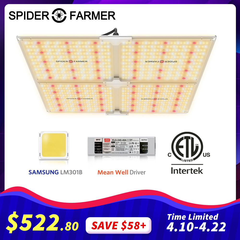 Spider Farmer SF 4000W Led Grow Light 4000W Full Spectrum With LM301B Diodes And Dimmable Mean Well Driver IR For Indoor Plnats
