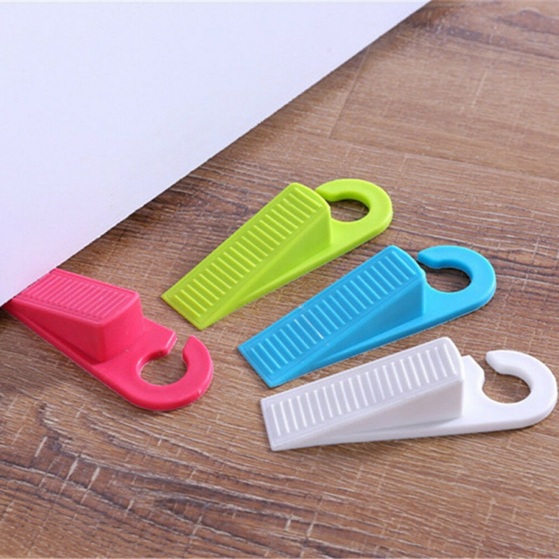 2pcs Door Stop Wedge Safety Door Stop Stopper Home Baby Kid Doorstop Flexible Door Buffer,