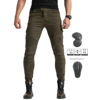 Army green VOLERO MOTORPOOL UBS06 jeans men's motorcycle jeans pants protection equipment moto pants racing pants