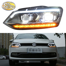 SNCN Car Styling LED Headlight For Volkswagen Polo 2009 - 2018 2019 LED DRL Dynamic Turn Signal Light Head Lamp Assembly sktoo for volkswagen langyi new santana polo beige interior headlamps reading lamp sunroof switch assembly