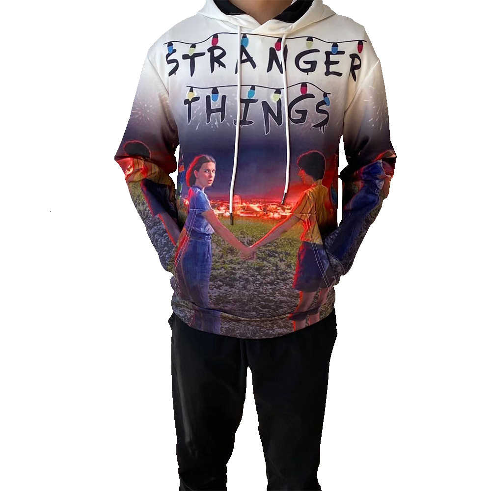 2019 stranger things 여성 후드 티 스웨터 팬 스웻 셔츠 streetwear clothes oversized 4xl merchandise