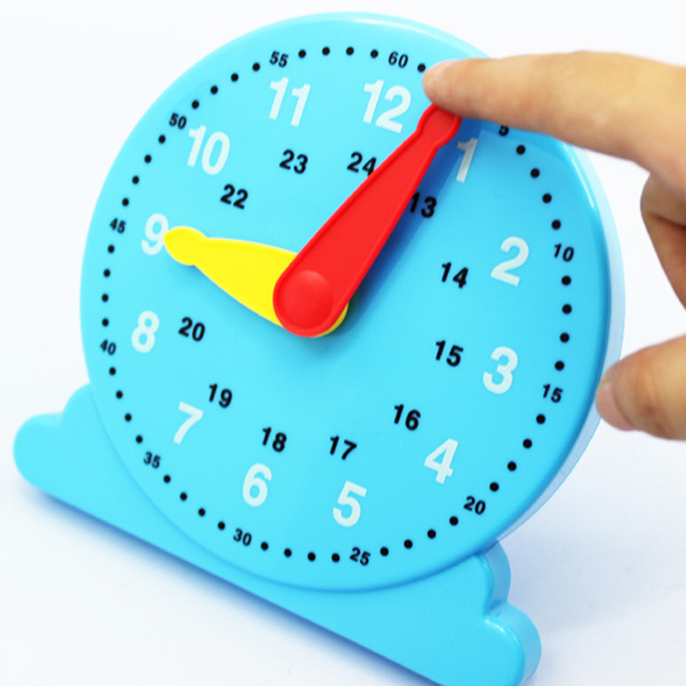 Early Education Teaching Toys 14.7*14*2.5 Cm Learn Time Clock Plastic Baby Model  Toys For The Children Gift