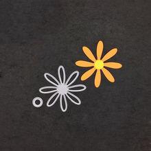 Цветочный Трафарет Шаблон металлические режущие штампы Скрапбукинг