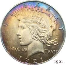 Estados unidos da américa 1921 liberty coin em deus nós confiamos 1 um dólar da paz cupronickel prata chapeado moedas de cópia