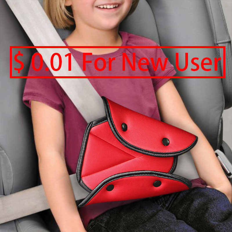 Car Safety Seat Belt Cover Baby Child Protection Sturdy Adjustable Triangle Safety Seat Belt Pad Clips Car-Styling Car Accessory