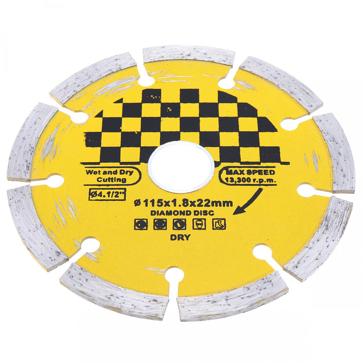 115mm Hard Alloy Steel Circular Saw Blade Marble Stone Cutting Blade Disk Diamond Dry Cutting Disc For Granite Concrete Ceramic