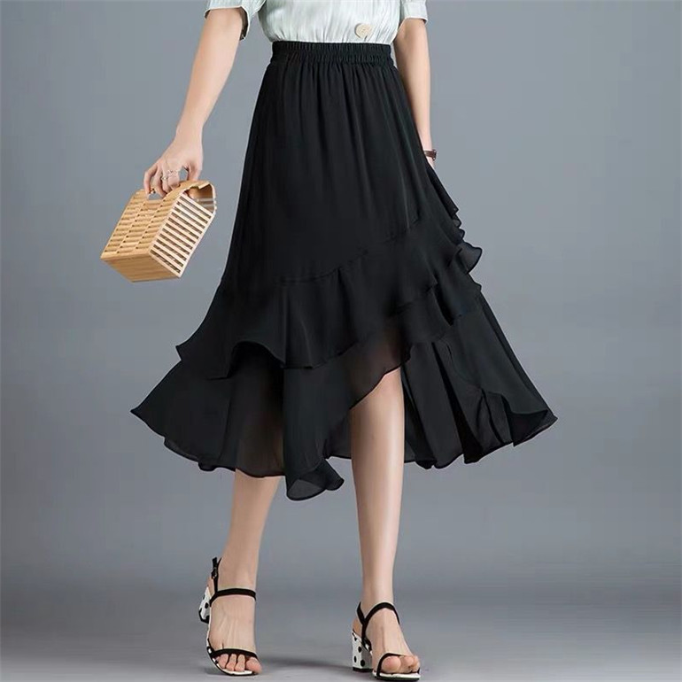 The Best Ruffle Skirts Long Background