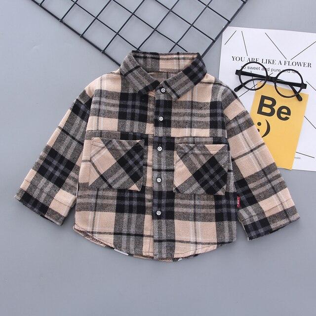 Boy Plaid Khaki Suit 6