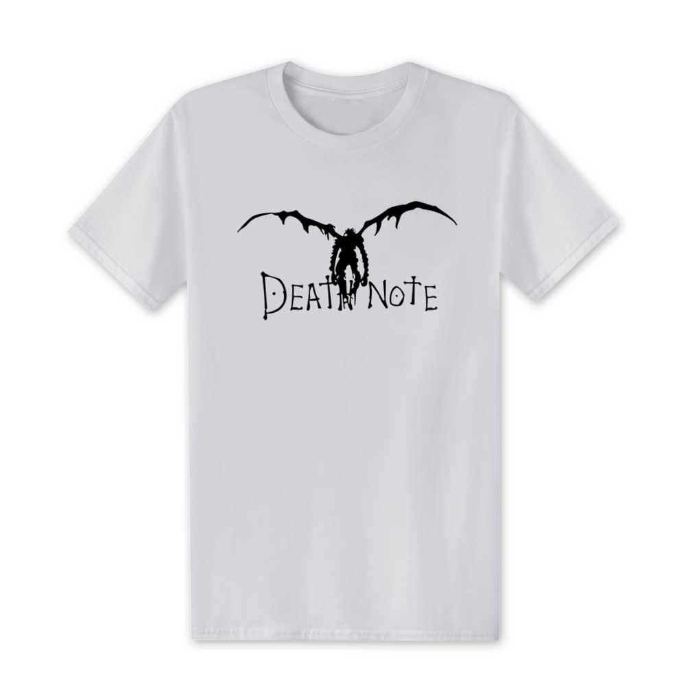 New 2019 Japan New Death Note Men T Shirts Cotton Cool Anime Cartoon Short Sleeve T-shirt Camisetas T shirt Mens Clothing XS-XXL