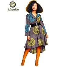 2019 Dashikiage New Arrival Womens dress with Sashes African Print Dashiki Stunning elegant Ladies Dress S1925038