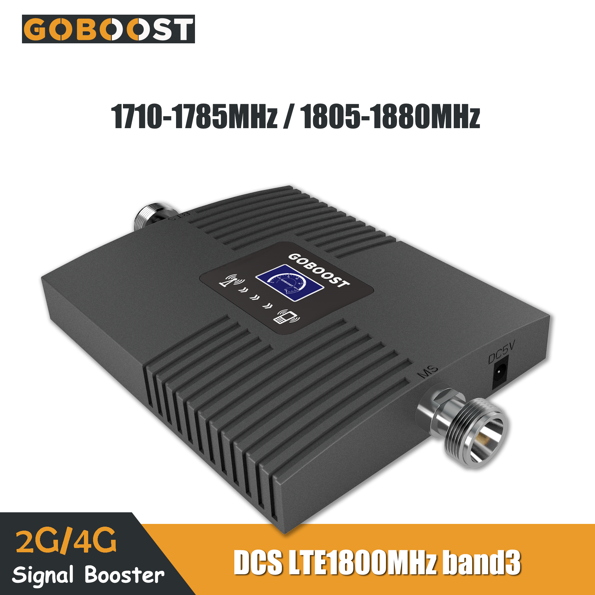 DCS 2G/4G LTE 1800mhz Band3 Cell Phone Cellular Signal Booster LCD Display Mini Mobile Amplifier Repeater Network Data 65dB Gain