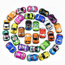 10pcs/lot Cartoon Toys Cute Plastic Pull Back Cars Toy Cars for Child Wheels Mini Car Model Funny Kids Toys for Boys Girls 6pcs lot multicolor plastic cartoon mini pull back boy car model toys set educational toy for children car toys
