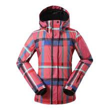 цена на Gsou Snow Ski Jacket For Women Outdoor Waterproof Windproof Winter Snowboard Jacket Hooded Skiing Coat Keep Warm Rain Jacket