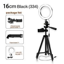 16cm de altura ajustável fotografia suporte do telefone led tripé anti deslizamento selfie anel luz conjunto brilhante transmissão ao vivo maquiagem