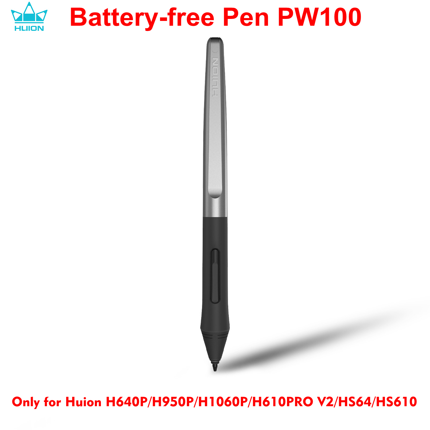 HUION Battery-free Stylus Pen PW100 for HUION H640P/ H950P/ H1060P/ H610PRO V2/ <font><b>HS64</b></font>/ HS610 Digital Graphic Drawing Tablets image