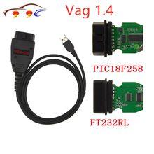 Vag K + can Commander 1.4 Obdii Diagnóstico Scanner Com Ft232rl Obd2 Pic18f258 Chip Com Cabo Para Vw Para Skoda para a Seat