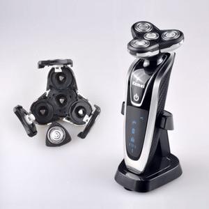 Image 2 - Kemei חשמלי מכונת גילוח לגברים נטענת 4 ב 1 צף ארבעה להב שיער גילוח החלפת מכונת גילוח הראש D40