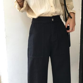 Disweet Jeans Women Elastic High Waist Loose Jeans Casual Womens Wide Leg Trousers Students Denim Fashion Harajuku Pants 4