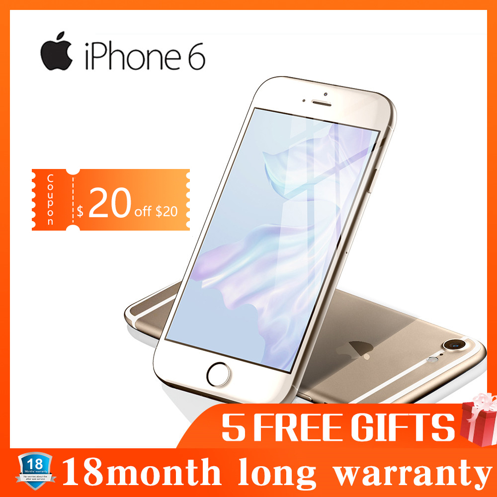 Refurbished Apple IPhone 6 Dual Core IOS Smartphone 4.7 Inch IPS RAM 4G LTE Mobile Phone  IPhone 6 ROM 16G 32G 64G 128G